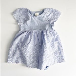 H&M Periwinkle Eyelet Lace Dress 6-9 Months